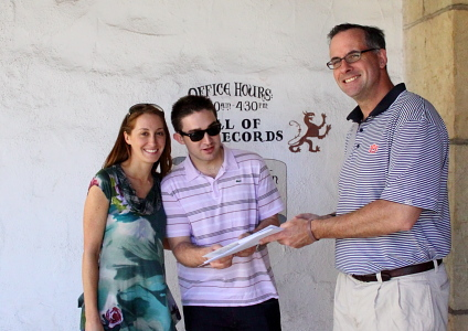 The Handing Over of the Marriage License