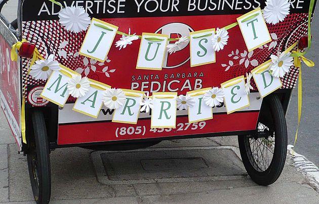 Just Married Pedicab