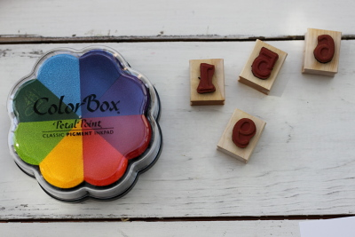 Color Box Stamp Pad and Number Stamps