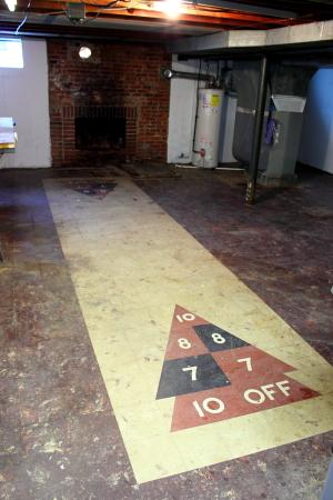 Asbestos Tile Shuffleboard