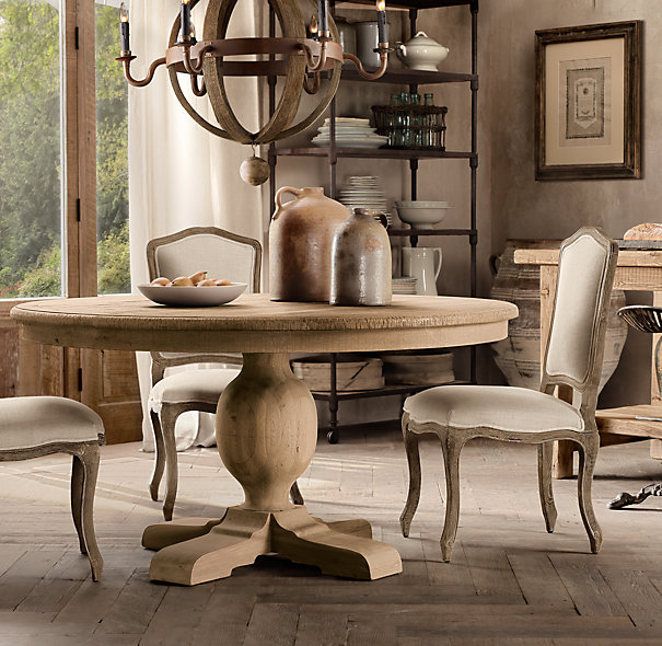 Table it bunches of joy for Dining room tables at restoration hardware