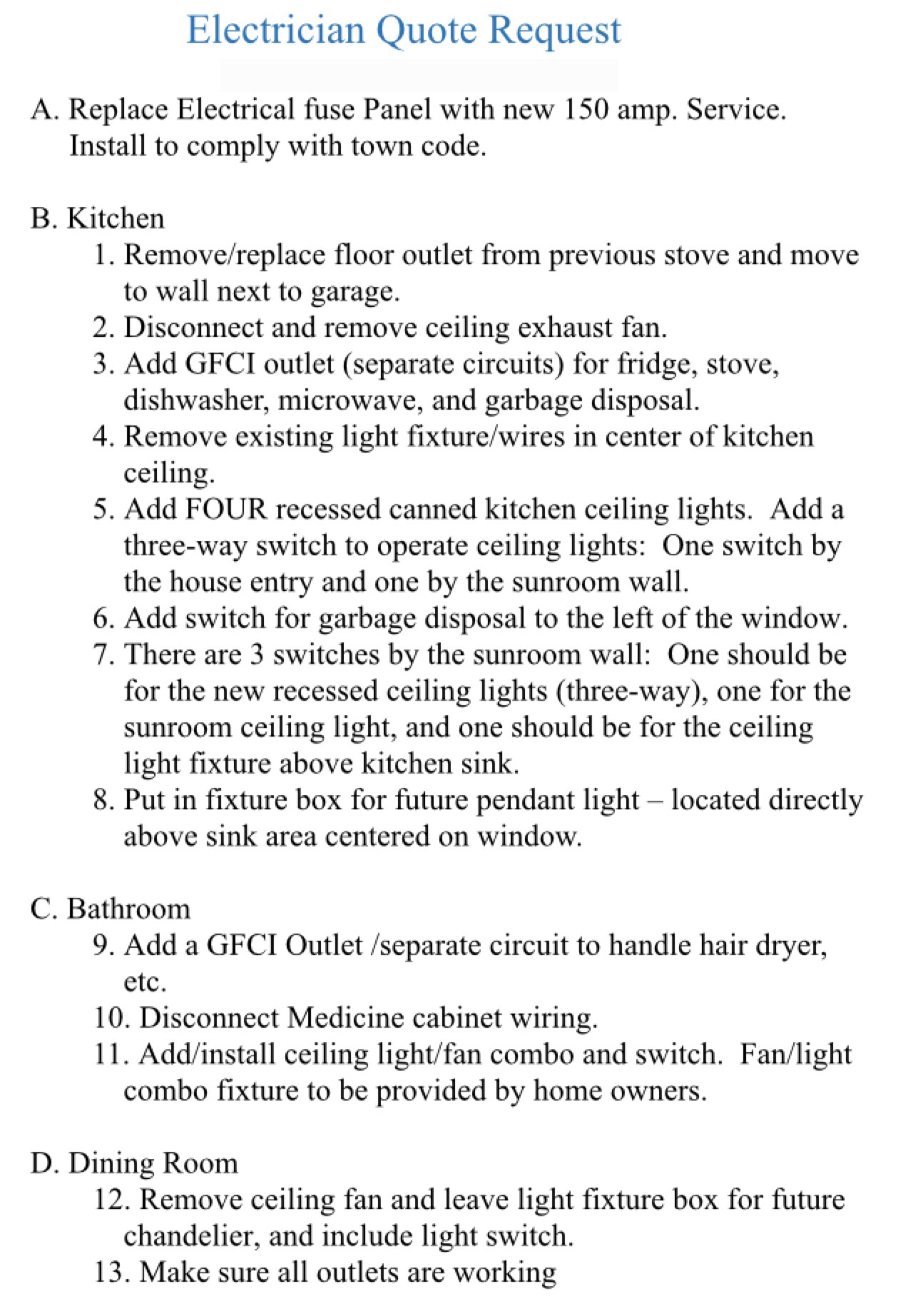 Electrical House Wiring Quotation We Have Light Bunches Of Joy This List Is Actually Shorter Than It Startedmr Found That The Original Seemed To Scare Away Some Electricians