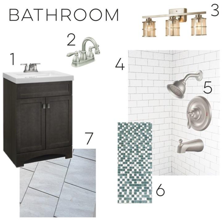 Bathroom Mood Board Bunches Of Joy